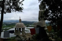 A Buddha temple along the side of national highway in North Guwahati Near IIT Guwahati.