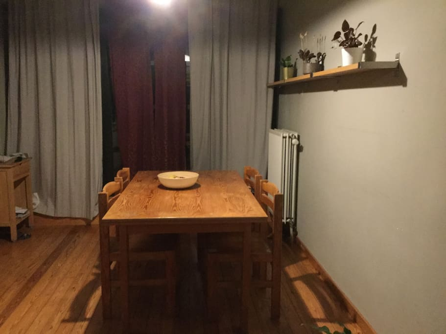 Kitchen. Leading to the balcony