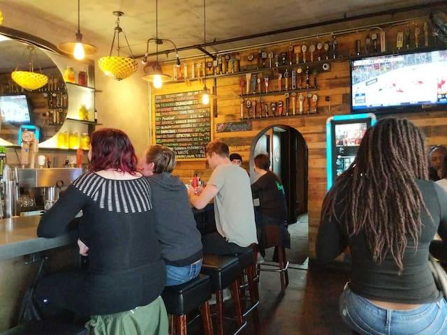 Portal Bar and restaurant less than a mile away
