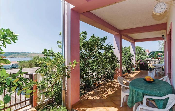 Awesome home in Posedarje with WiFi and 1 Bedrooms
