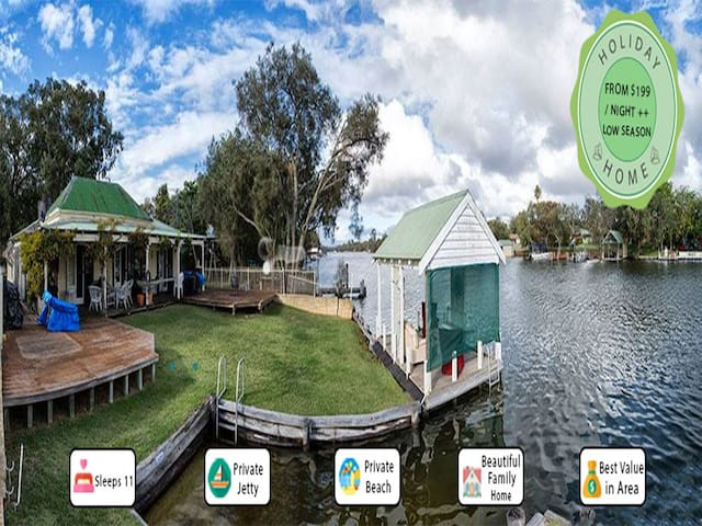 Mandurah Riverfront Holiday Rental - North Yunderup - Rumah