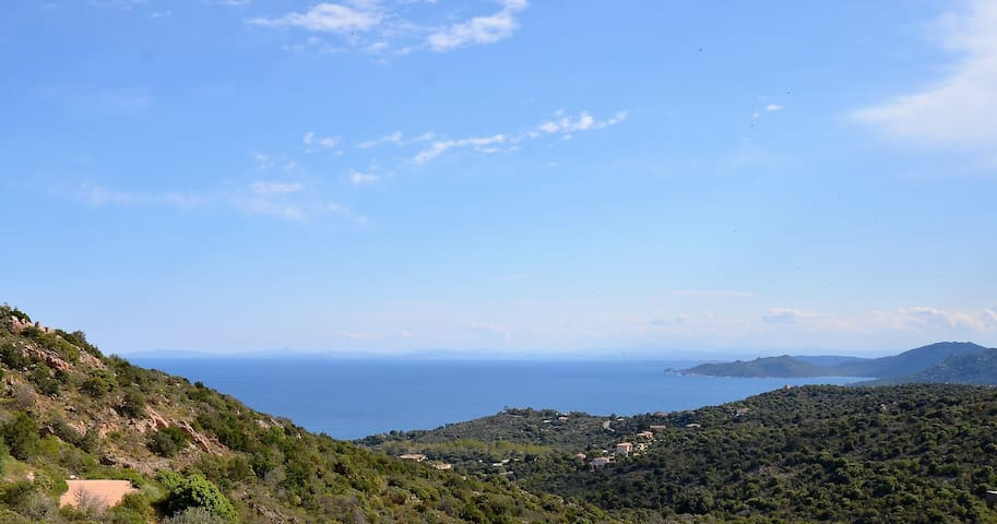 villa, vue mer Palombaggia