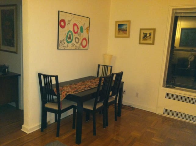 Feel free to order in,  make meals and eat comfortably in the dining room!