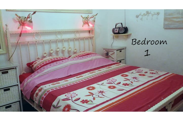 Bedroom 1 - with air conditioner, flat TV, bed 160*200,  ambient light, radio