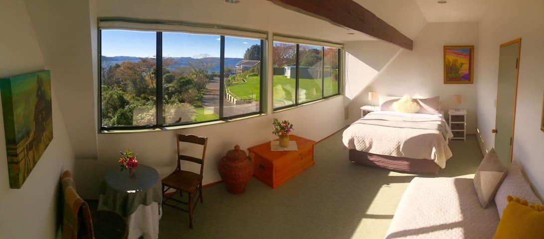 Bedroom One, Tutanekai Suite - Views