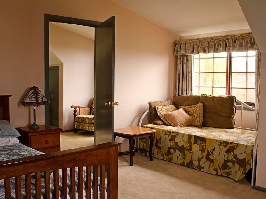 Your private room also has a day bed that you might like to curl up into with a good book or use as a single bed for a 3rd guest.