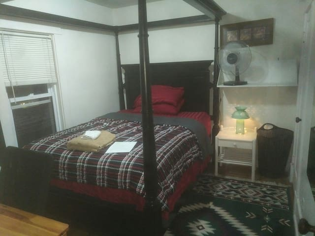 Cozy bedroom in a century home