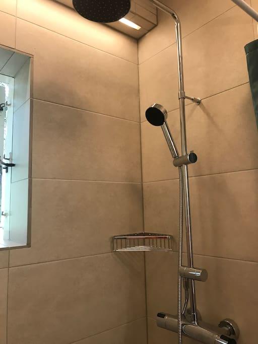 Brand new shower