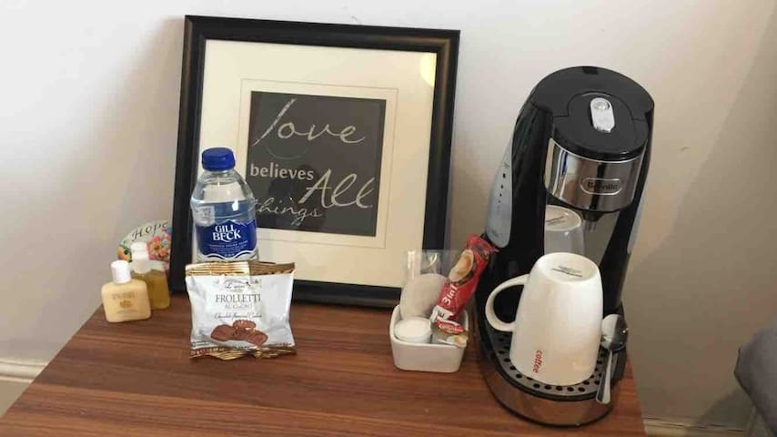 Your welcome table  Rehydrate with some water, make a hot drink or have some biscuits. Just our little way of saying welcome :)