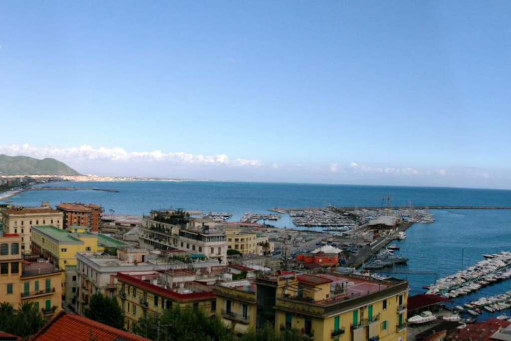 vista panoramica dal balcone