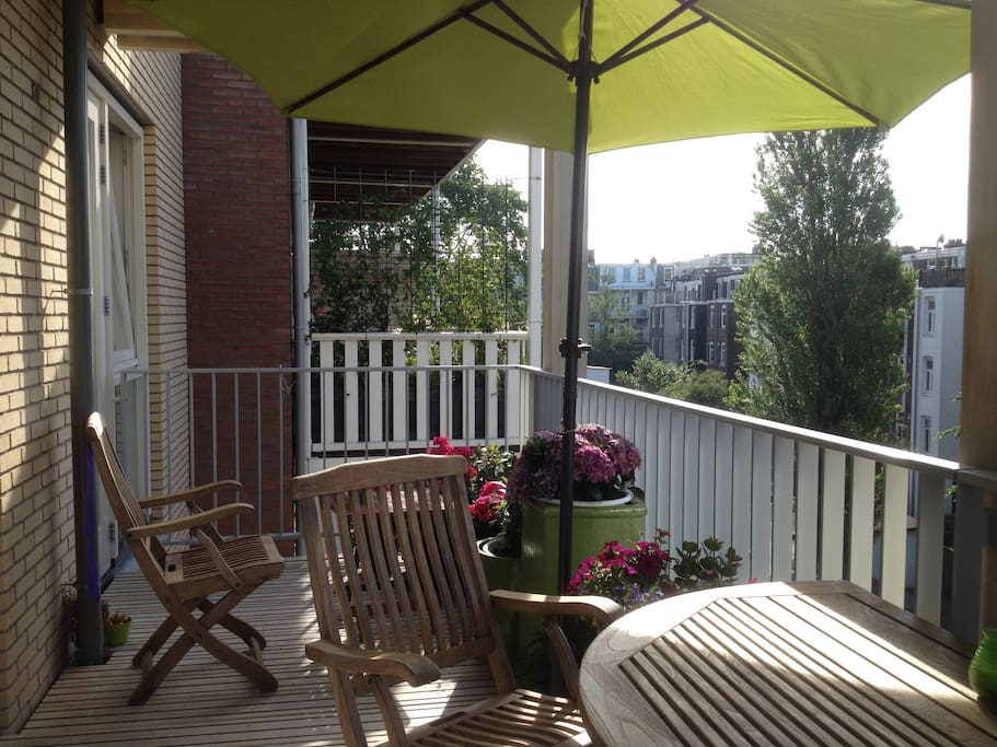 Walk out from your bedroom to a big sunny balcony