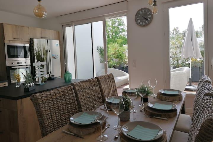 Superbe meublé classé 5*, terrasse, centre ville