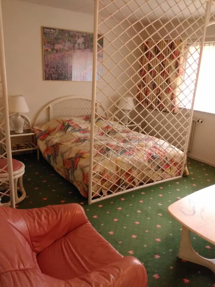 Flot værelse tæt på Centrum med eget bad/toilet