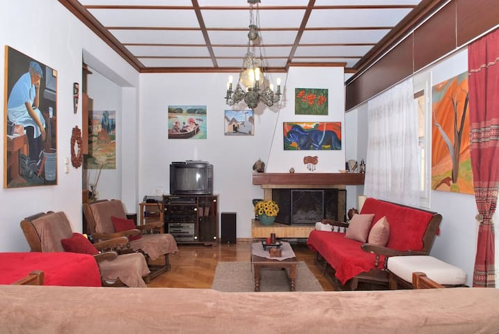 Art family cosy house near metro Neos Kosmos 90sqm