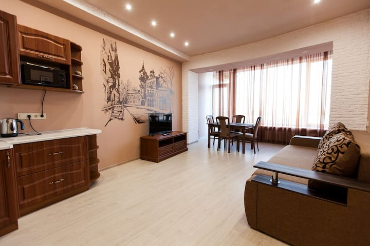 """Apartments 9 """"Sun City"""" in the MOST CITY center"""