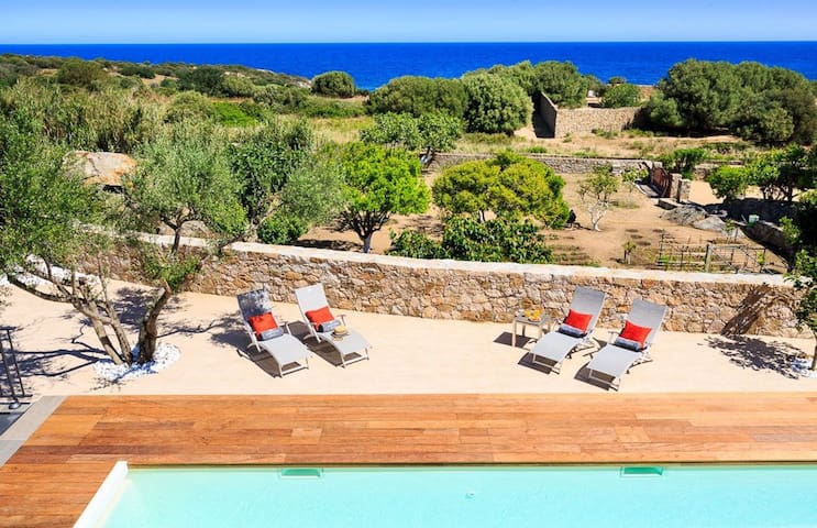 Villa Parata - plage à pied -  Davia - vue mer