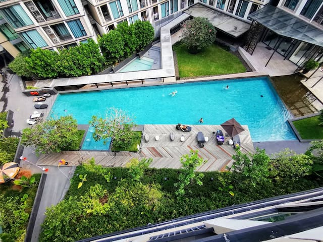 The Base Uptown Condo Pool view near Tesco Lotus