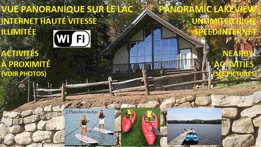 Waterfront /Swiss chalet/private sandy beach