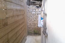 Solar outdoor shower