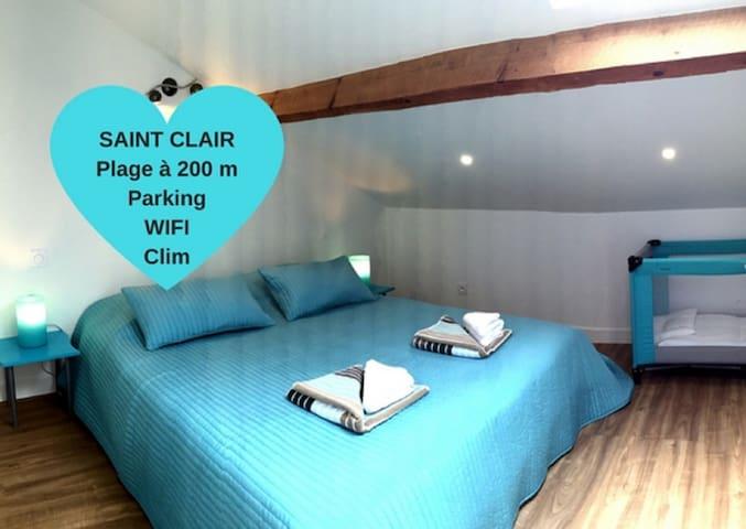 """PLAGE N°5"" ST CLAIR plage à 200m-WIFI-CLIM-PARK - Ле-Лаванду - Квартира"