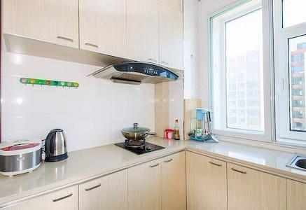 山海广场免费私人专属车位空调精日租家庭公寓房 - 营口