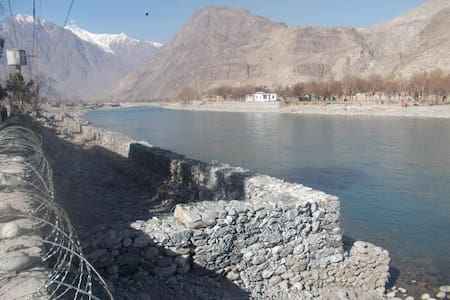 Cottage by River Gilgit on 2 acres