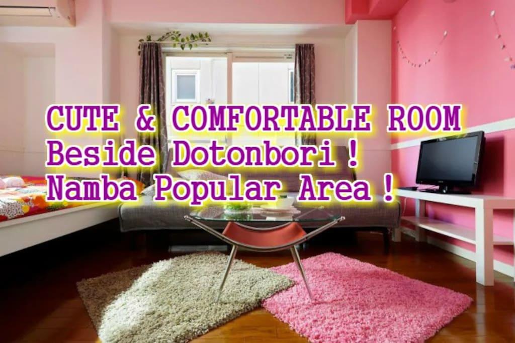 CUTE & COMFORTABLE ROOM Beside Dotonbori! Namba Popular Area!