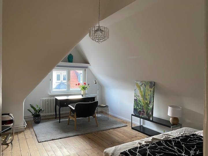 Quiet Super-Cozy room sharing roof terrace