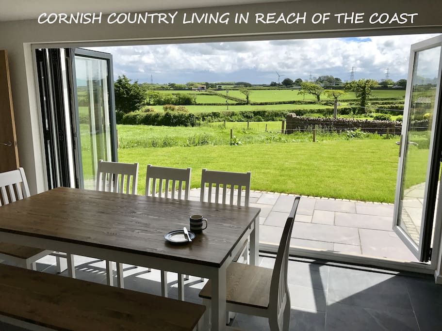 Cornish countryside living in reach of the beaches. All the comforts of a house, all the fun of the coast.