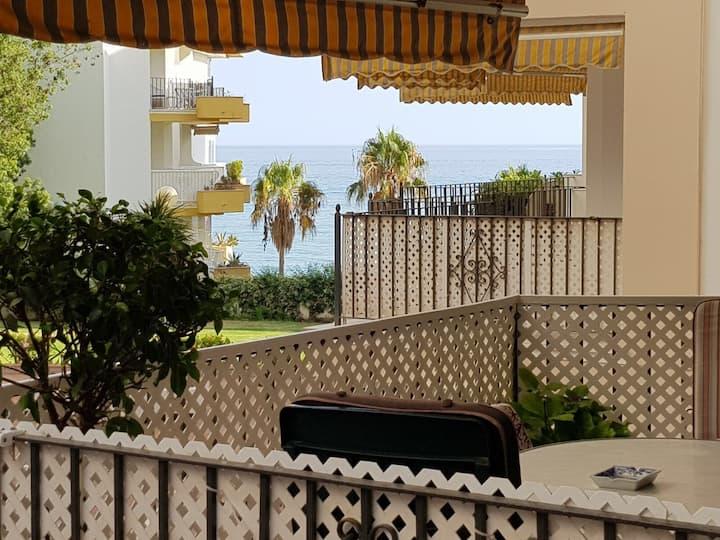 Marbella beachfront, center and parking.