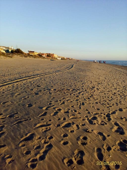 Spiaggia grande e ampia