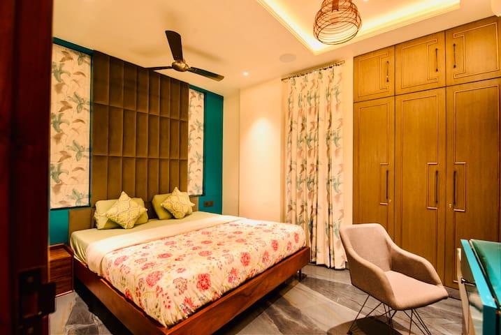 King Bedroom with Small Balcony