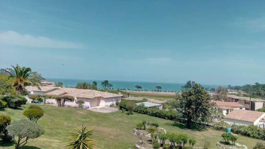 Corse du Sud Favone mini villa vue mer 200m plage.