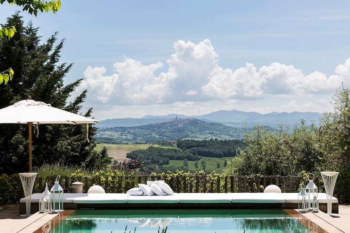 Panoramic Luxurious Villa TODI (PG) UMBRIA (10psn)