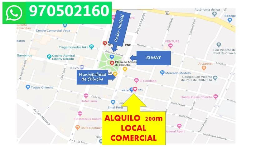 ALQUILO HABITACION EN PLENO CENTRO DE CHINCHA
