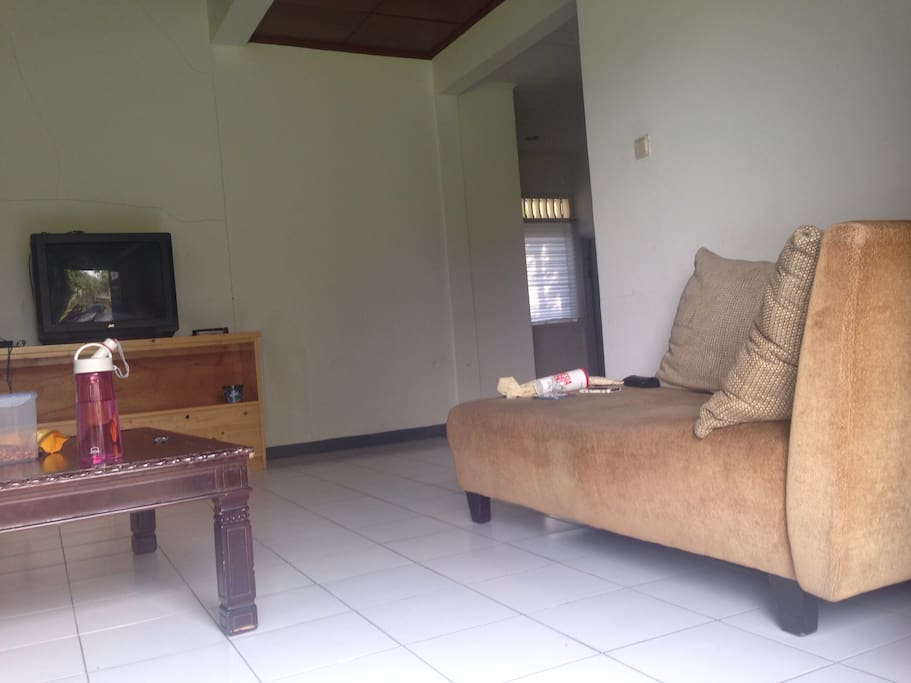 lounge area with glass door angle 2