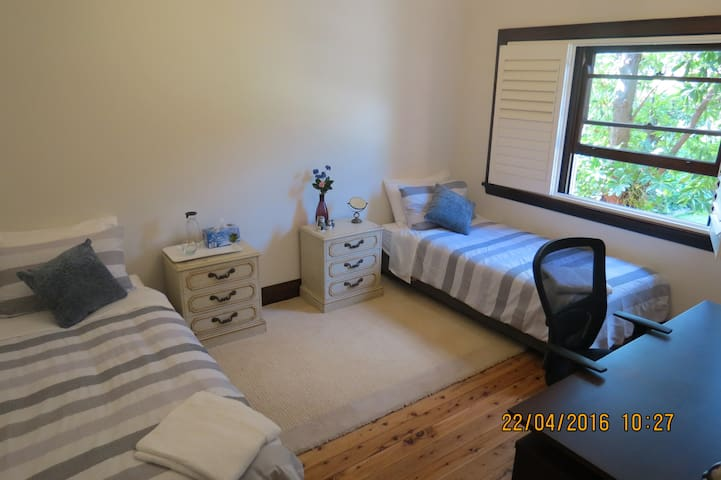 Comfortable spacious Private twin beds BF Wifi AC - Chatswood - Casa