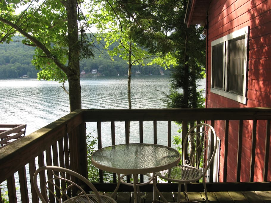 View of Lake Morey from deck #1