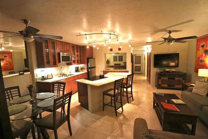Remodeled Ocean front Kuhio Shores with AC