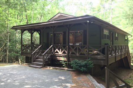 Cottage By The Stream - 2 Bed, 2 Bath One Level - Brevard - Huis