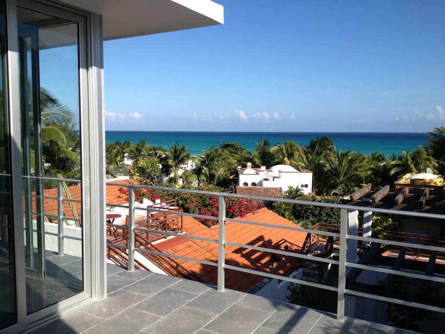 Casa Alma: View of Caribbean Sea from Studio Terrace