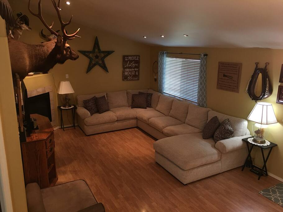 "Large Living room with 55"" TV"