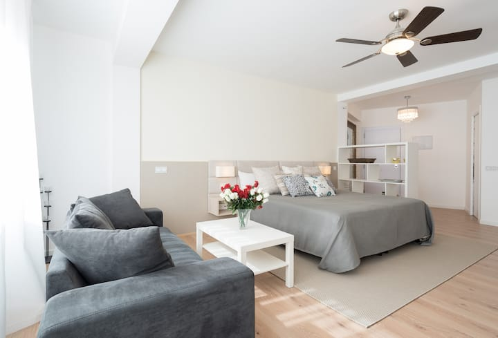 Large Bright Modern Studio *7 day stays for €300*