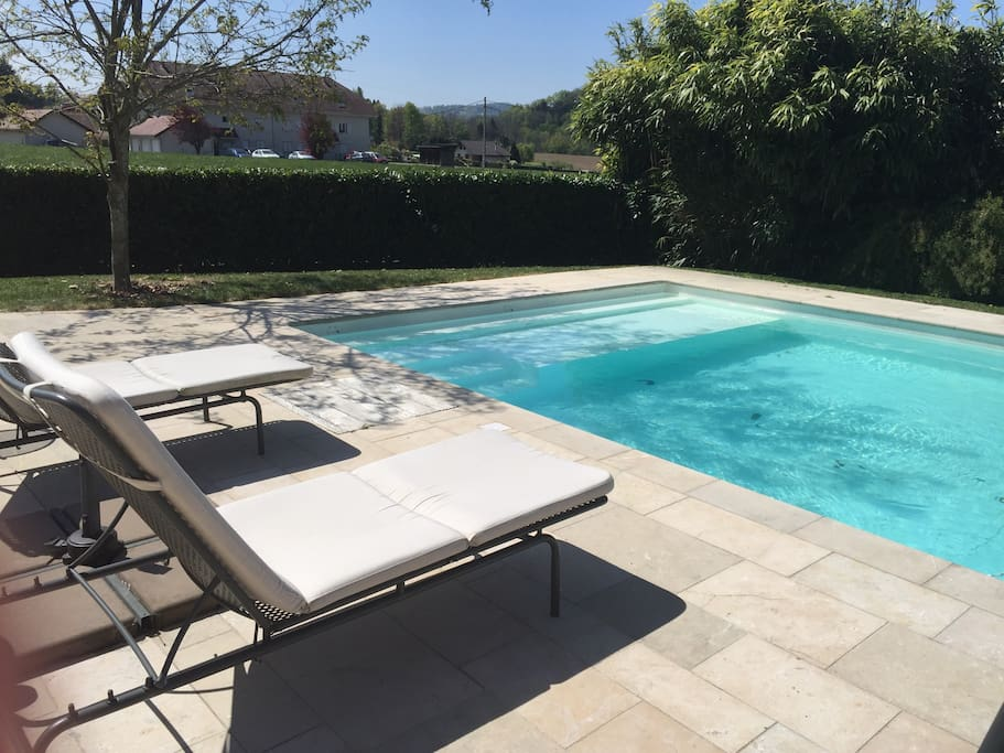 Chalet cosy piscine chalets for rent in chavanod for Piscine coque polyester rhone alpes