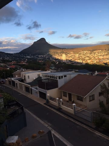 Lion's head at sunset. View from the second bedroom
