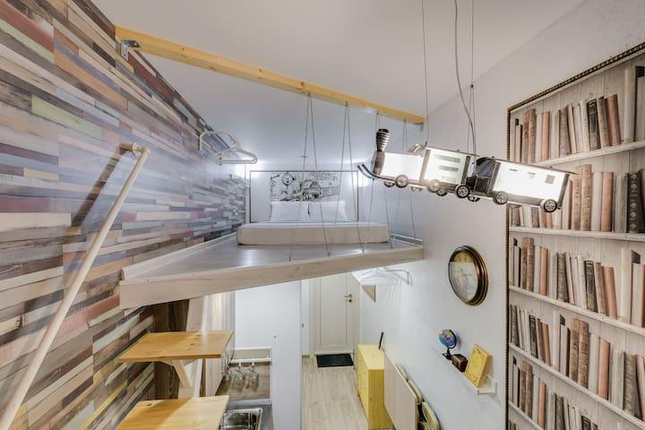 Квартира-студия в 1 минуте от метро