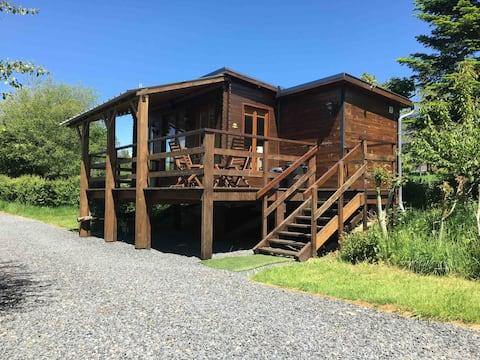 Detached studio Lodge in a quiet rural location