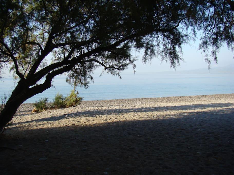 Η παραλία στα 30 μέτρα...