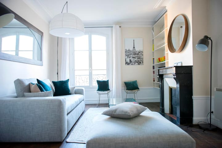 Charm + luxury, Eiffel Tower view (mobility lease)