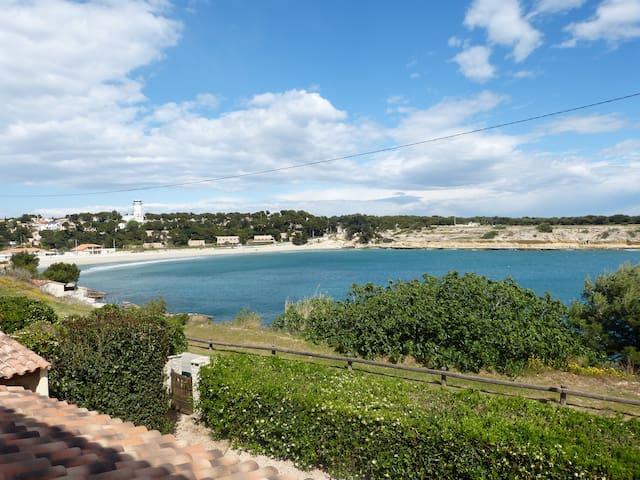 Carro - Côte bleue: Maison 4 p./ pieds dans l'eau - Martigues - Rumah